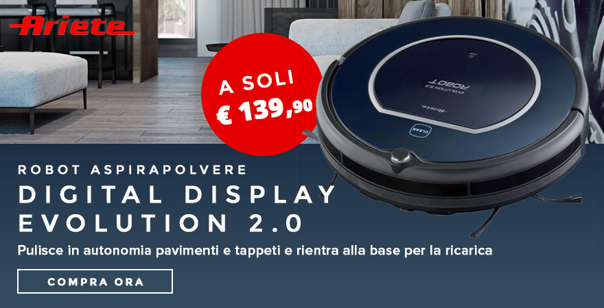 Ariete Robot Aspirapolvere Digital Display Evolution 2.0 Ariete